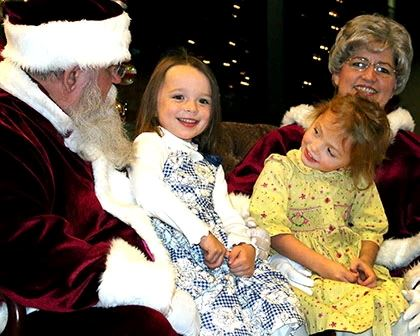 Little Girls on Santas Lap