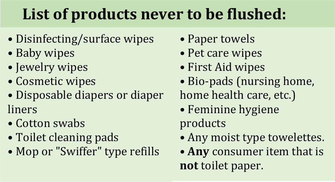 Items not to flush-1