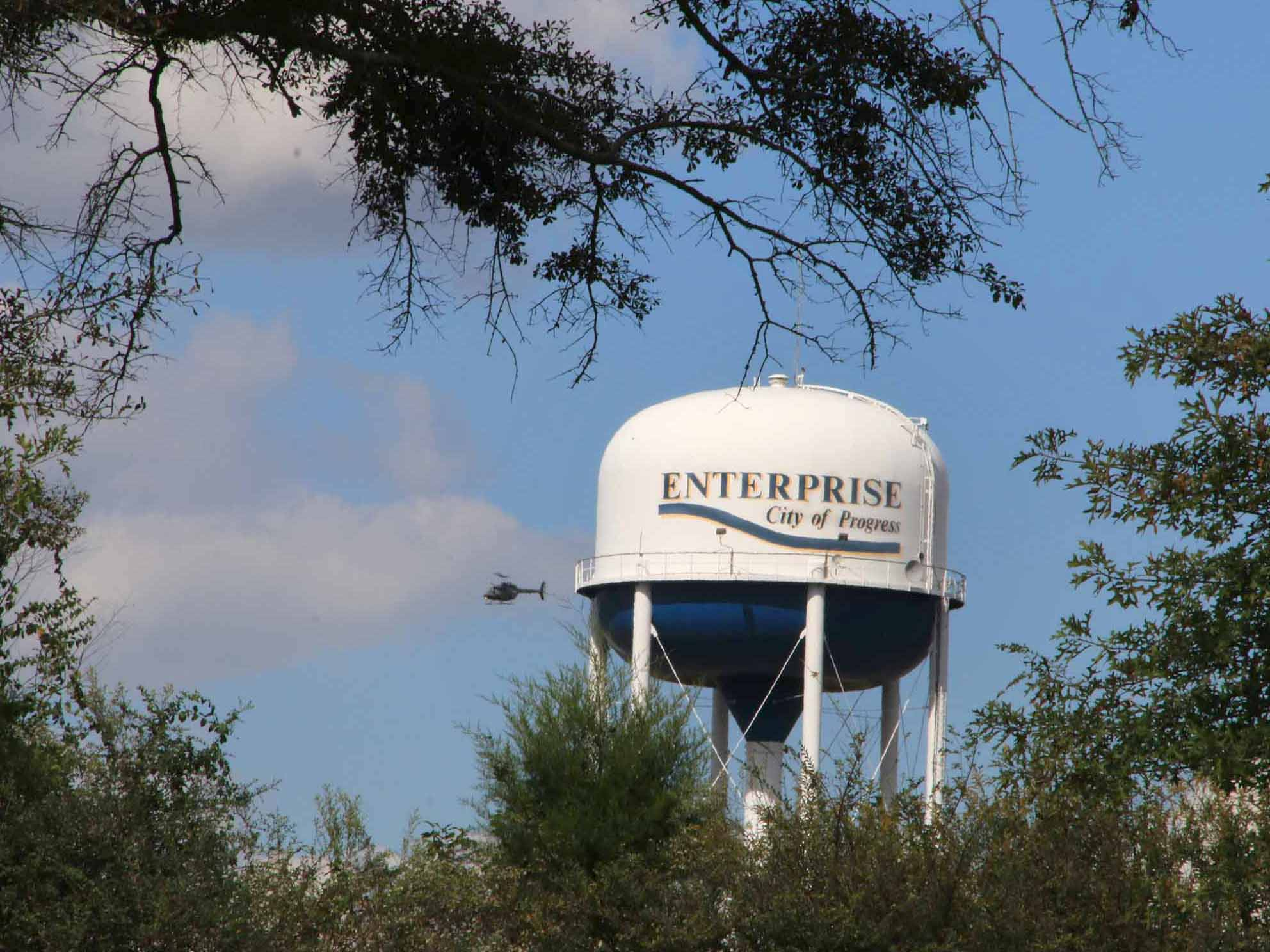 City Water Tower at Yancey Parker Industrial Park.