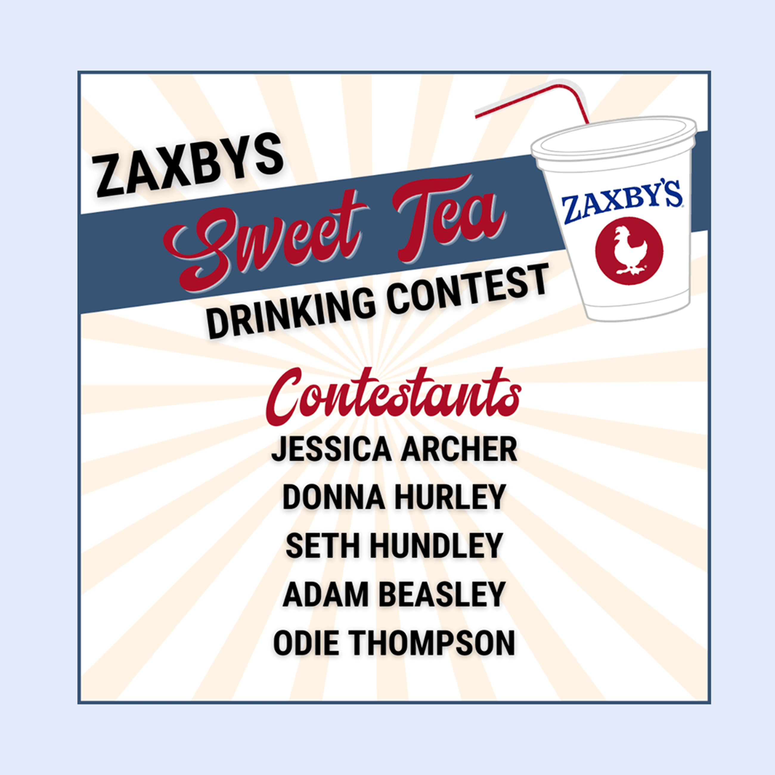 Sweet Tea contest poster
