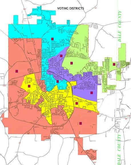 City of Enterprise Voting Districts