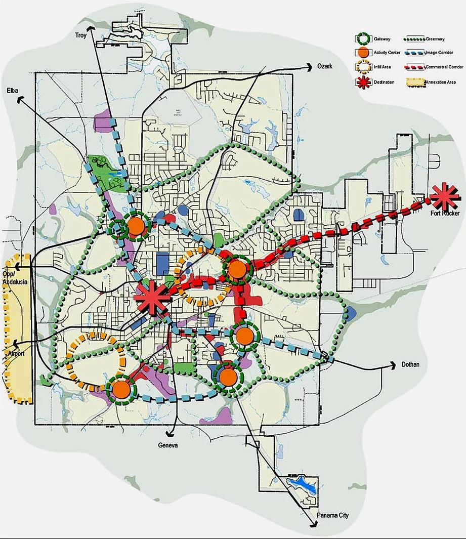 Engineering Comprehensive Plan Map