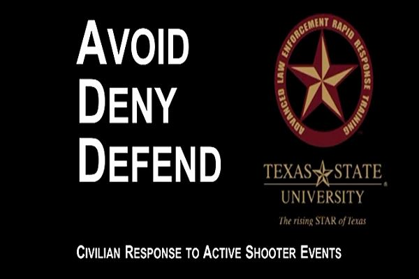 Avoid Deny Defend - Civilian Response to Active Shooter Events
